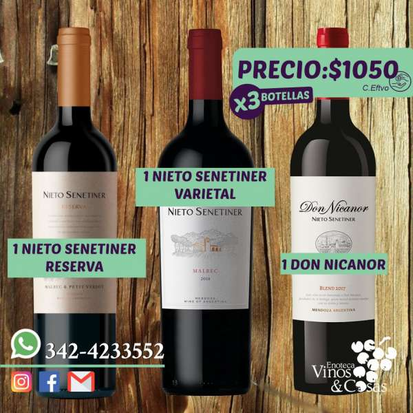 OFERTAS X3 BOTELLAS